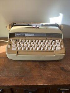 Vintage Smith Corona Coronet Automatic 12 Electric Typewriter Beige And Yellow
