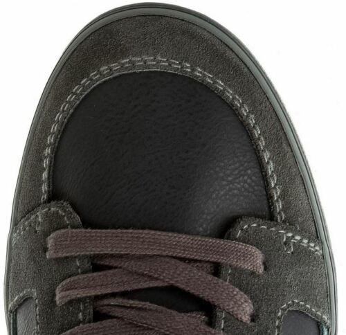 GEOX RESPIRA Hommes Sneaker Chaussures Mid véritable cuir T 44 gris bleu