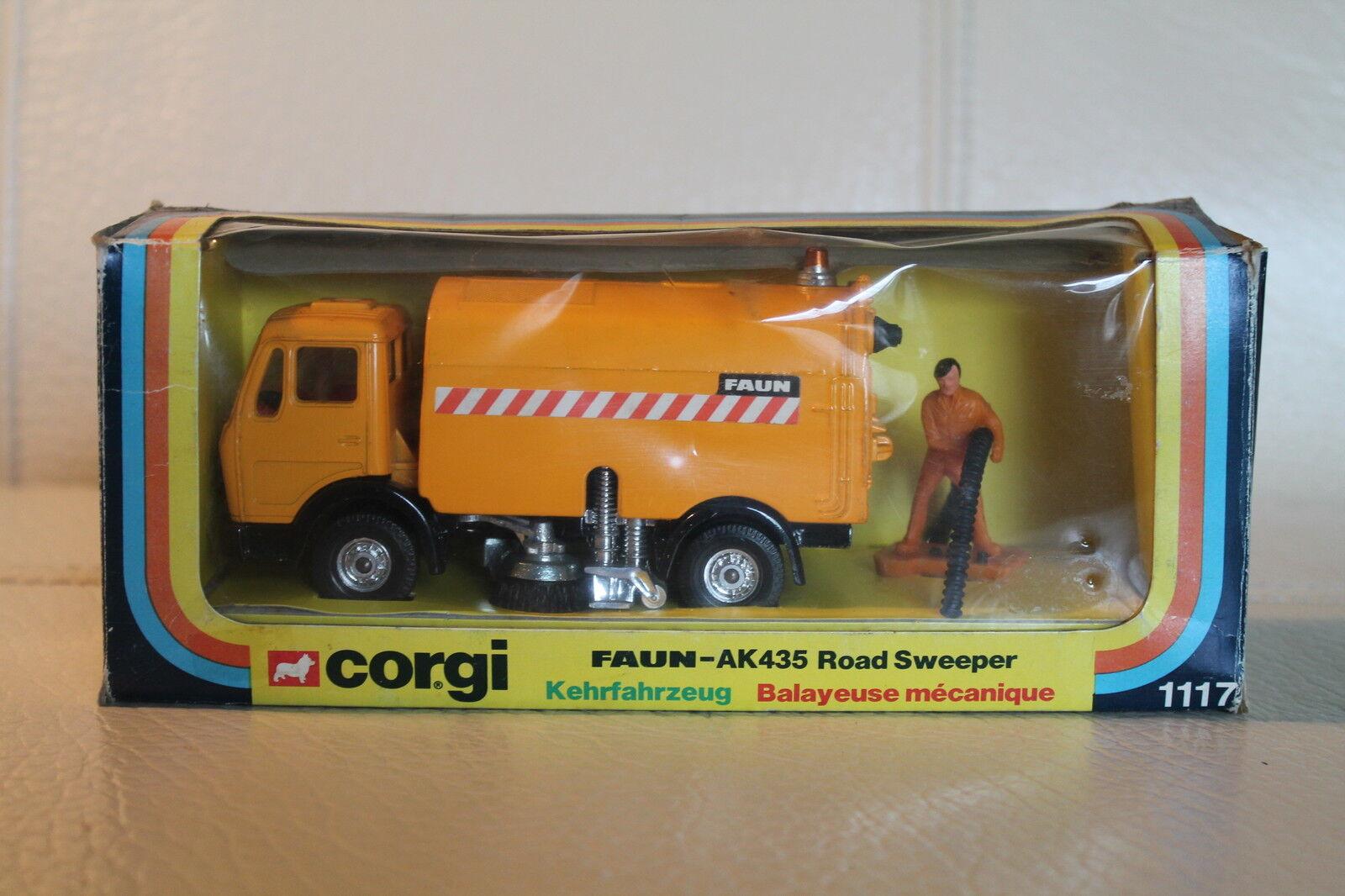 CORGI toys 1117  faune ak-435 kehrfahrzeug  ORIGINAL  OVP  rar