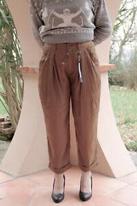 High Pantaloni lussuosi Glossy 8 38 Taglia Camel Use 40 7 Fr W30 Novità D etichette X4UrwqHX