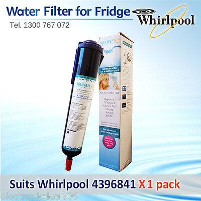 2 pack  of  4396841 Whirlpool Fridge Filter  replacement cartridge  Aqua blueH20