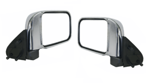 NEW-DOOR-MIRROR-MANUAL-CHROME-for-NISSAN-NAVARA-D22-4WD-2001-2015-PAIR