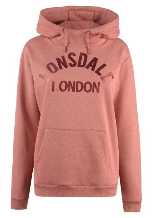 Lonsdale London women Felpa Fucsia Bronzo Tutte le Taglie Nuove con Etichetta