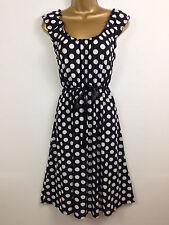 New Pistachio Black Polka Dot Summer Holiday Wedding Dress Races UK Size 14