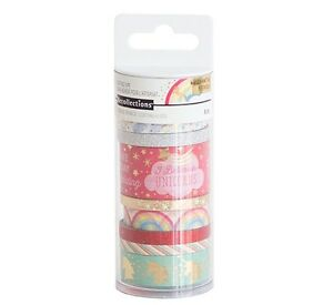 Michaels Recollections Planner Washi Tape Tube set - Unicorn Gold ...