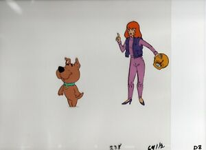 Scooby Doo Production Animation Cel Daphne & Shaggy Hand Painted!
