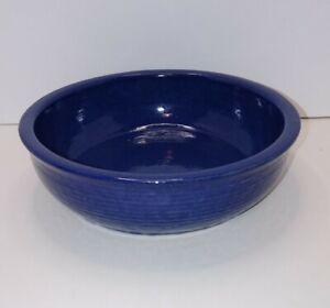 Zanesville-Stoneware-Pottery-9-5-034-x-3-034-Planter-Bowl-9009-Dark-Blue-Navy-Blue