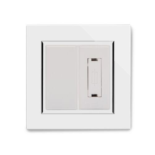 Retrotouch 13 A Interrupteur Fusible Spur verre blanc CT 04320