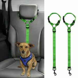 2-Packs-Dog-Cat-Safety-Seat-Belt-Strap-Car-Headrest-Restraint-Adjustable-Ny-D1W7