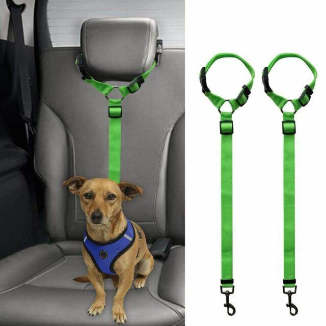 2 Packs Dog Cat Safety Seat Belt Strap Car Headrest Restraint Adjustable Ny D1W7