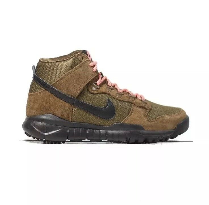 NIKE SB DUNK HIGH BOOT Size 12 Military Brown Black 536182-203 Mens shoes