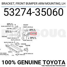 Genuine Toyota Parts 53274-35060 Driver Side Front Bumper Bracket