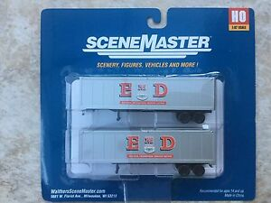 WALTHERS-HO-1-87-SCALE-EMD-INC-MOTOR-SERVICE-40-039-TRAILERS-2-PACK-949-2303-F-S