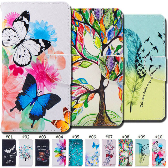 For Huawei Honor 6X/GR5(2017) Painted PU Leather Wallet Fashion Card Case Cover