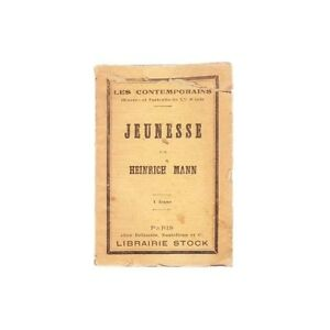 JEUNESSE-de-Heinrich-MANN-Oeuvres-et-Portraits-des-Contemporains-Edit-Stock-192