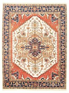 Hand-knotted-Carpet-8-039-9-034-x-11-039-7-034-Serapi-Heritage-I-Traditional-Wool-Rug