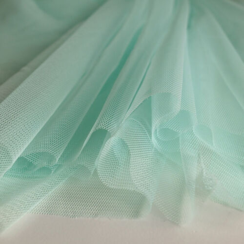 Mint Pastel Green Soft Tulle Bridal Fabric with drape 150cm wide by the metre
