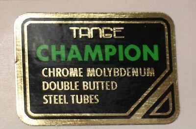 Tange Champion Motocross Tubing Decal Mirror Gold sku Tang825