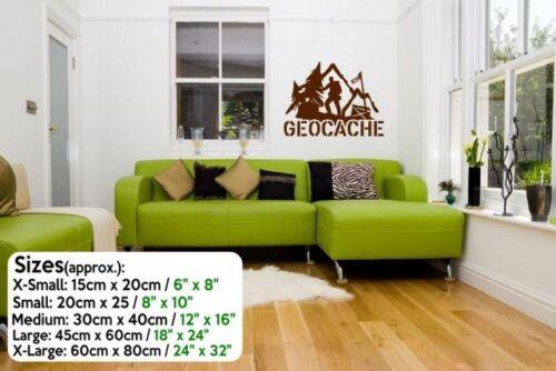 New Designer Geocache Vinyl Wall Decal For Real Hobbyist /& Wall Sticker