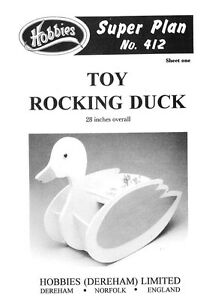 Hobbies Plans To Make A Toy Rocking Duck P412
