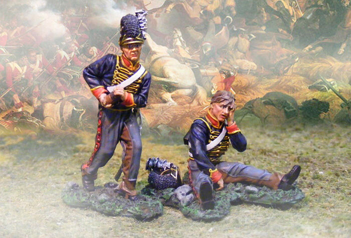 THE COLLECTORS SHOWCASE NAPOLEONIC CS00508 RHA ARTILLERY WOUNDED & LOADER MIB