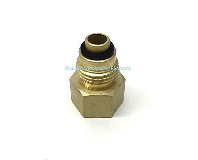 Brass Adapter Fitting For LS1 Engine Swap Conversion 3//8 Flare Power Steering