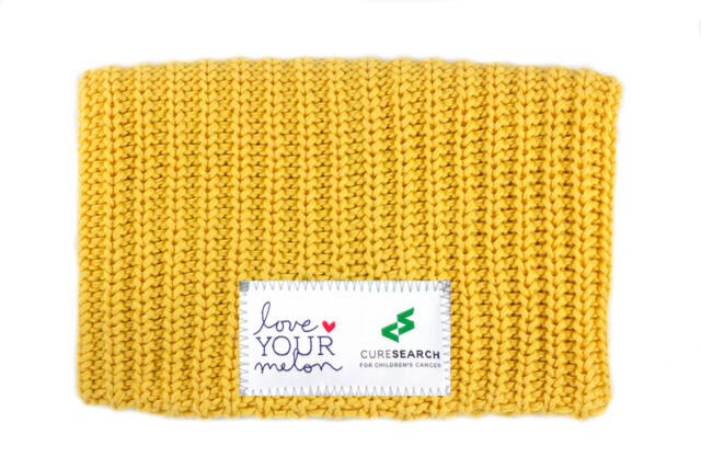 CureSearch Gold #MakeItGoldForKids Love Your Melon Hat