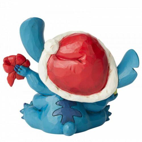 STITCH BAD WRAP with Santa hat Jim Shore Skulptur 6002833 Lilo /& Stitch Geschenk