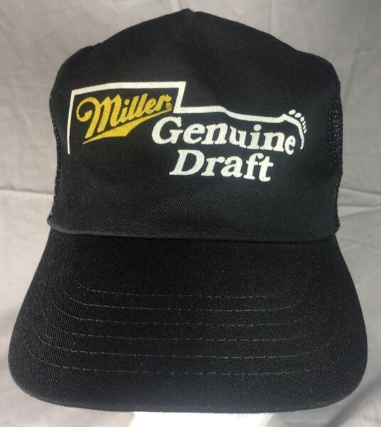 9d2df9b12db Miller Genuine Draft Snapback Trucker Mesh Hat Beer Guitar USA Rock N Roll  MGD