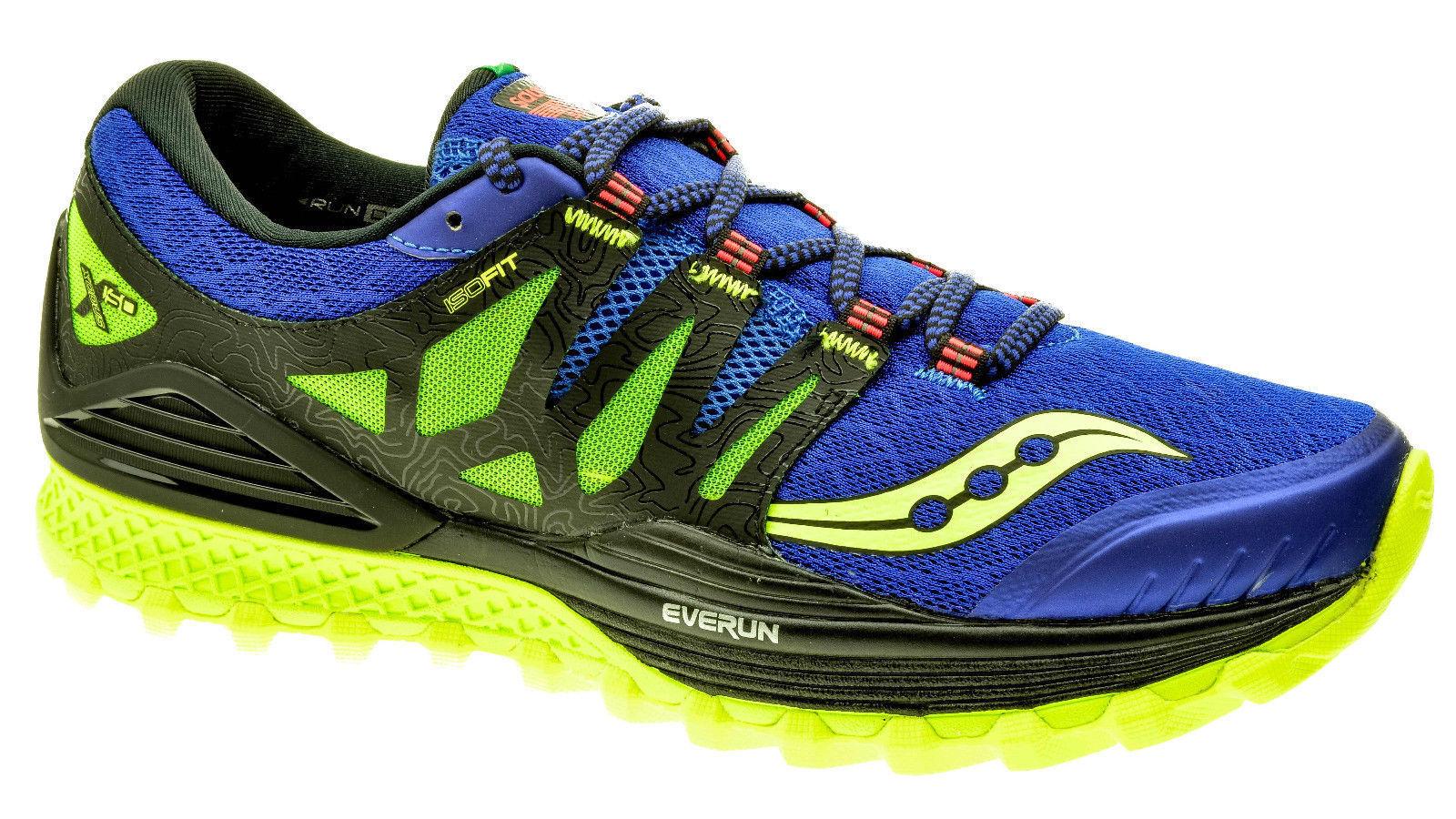 Saucony Men's XODUS ISO 2 bluee Black Citron Running shoes