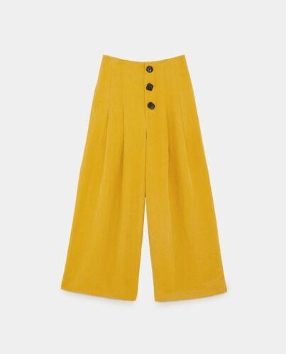 Zara Mustard Yellow Wide-leg Pants