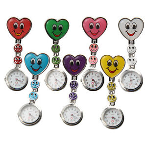 From-UK-Nurse-watch-Butterfly-Smiley-Heart-stainless-steel-fob-medical-styles