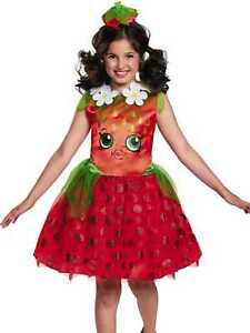 Shopkins Girls Halloween Costume STRAWBERRY KISS Tutu Dress Headband Medium 8-10