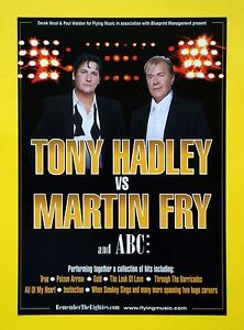 Tony Hadley vs Martin Fry and ABC UK Tour 2006 A5 flyerideal for framing - Glasgow, South Lanarkshire, United Kingdom - Tony Hadley vs Martin Fry and ABC UK Tour 2006 A5 flyerideal for framing - Glasgow, South Lanarkshire, United Kingdom