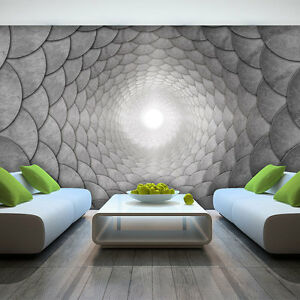 foto wandbild fototapete tapeten tapete loch grau 3d kunst wand licht 3fx3378p8 ebay. Black Bedroom Furniture Sets. Home Design Ideas