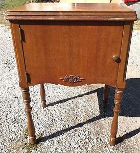 Vintage singer drop down sewing machine cabinetstandtable fits 66 image is loading vintage singer drop down sewing machine cabinet stand watchthetrailerfo