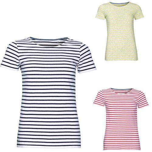 01399 XS-XXL SOL/'S Ladies Miles Stripe Striped T-Shirt