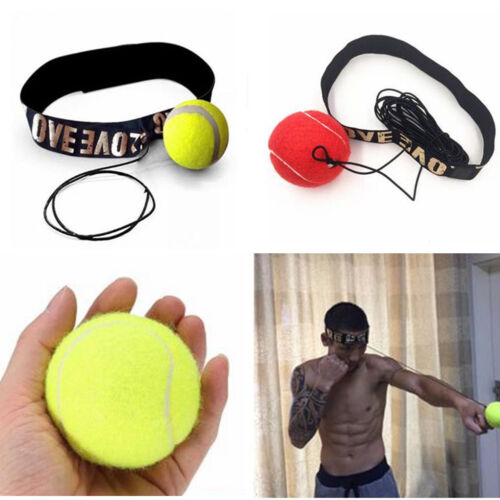 Fight Ball With Head Band For Reflex Speed Training Boxing Punch Exercise WSW