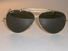 75077f132c 1980s VINTAGE B L RAY BAN G15 SHOOTING AVIATOR SUNGLASSES (HALF BULLET HOLE  ...