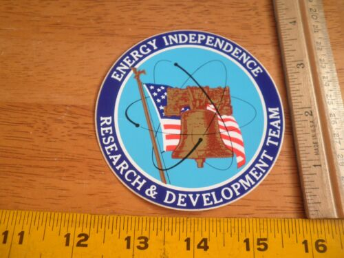 1970/'s Energy Dependence Research /& Development Team Nuclear Power sticker
