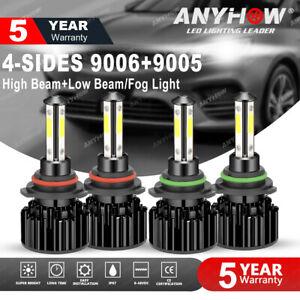 9005-9006-LED-Combo-Headlight-Kit-CREE-COB-240W-Light-Bulbs-High-amp-Low-Beam