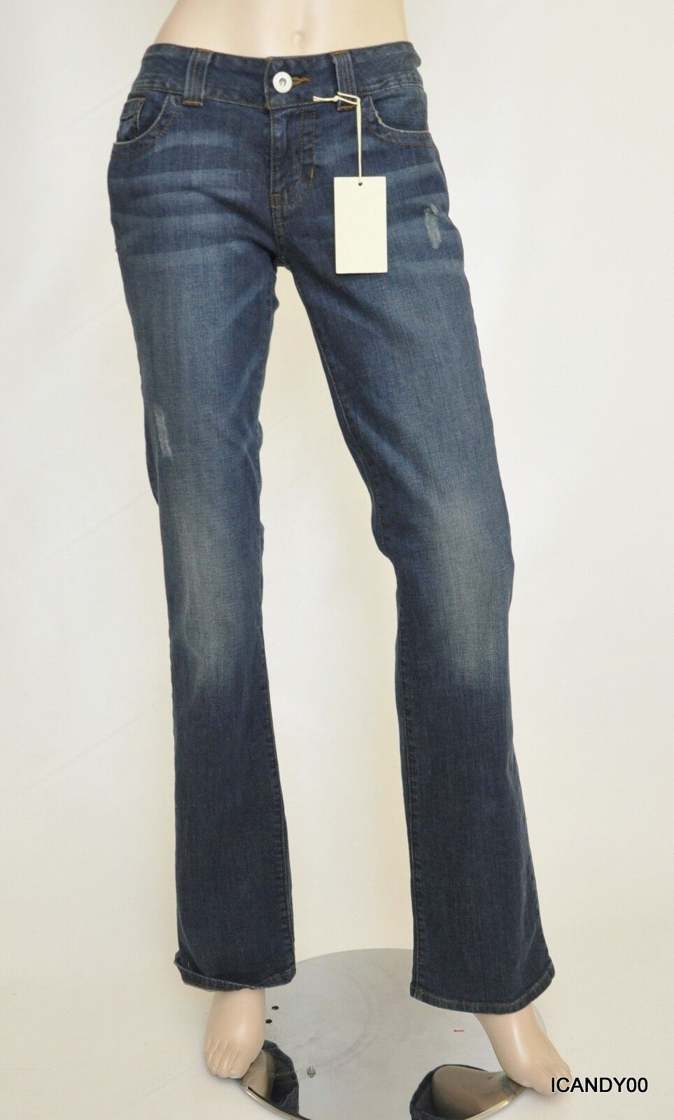 Nwt GUESS Bootcut Slim Fit Low Rise Stretch Jeans Denim Pants Santa Cruz 29 RG