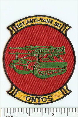 USMC 1st Anti-Tank Battalion ONTOS smaller cap PATCH Marines ! Vietnam 1st AT Bn