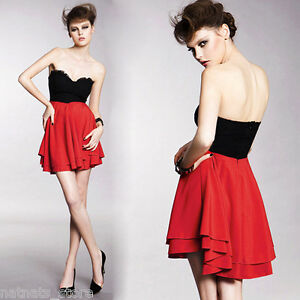 Open-Back-Black-Lace-Boobtube-Top-with-Red-Ruffle-Dress-1593