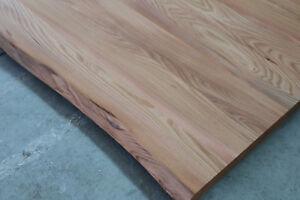 Rüster Holz tischplatte platte ulme rüster massiv holz mit baumkante tisch brett