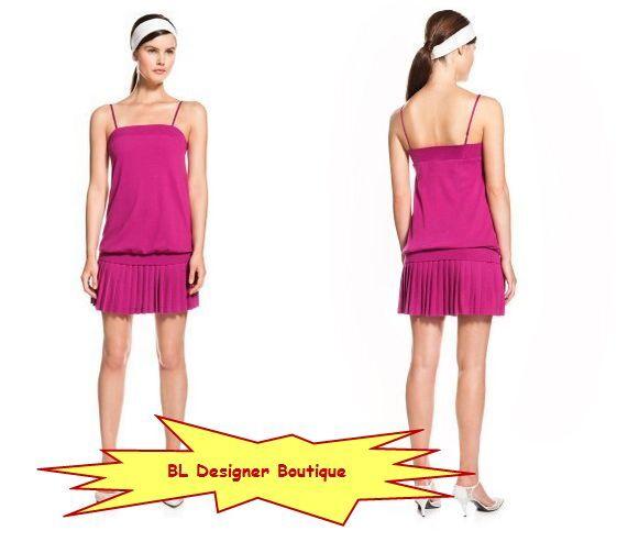 LACOSTE + MALANDRINO 'The Mini' Tube Top Dresses Tremiere Pink NEW NWT