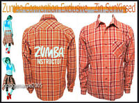 Zumba Instructor Flannel Shirt Convention Exclusive Zin Sunkissed Unisex S M L