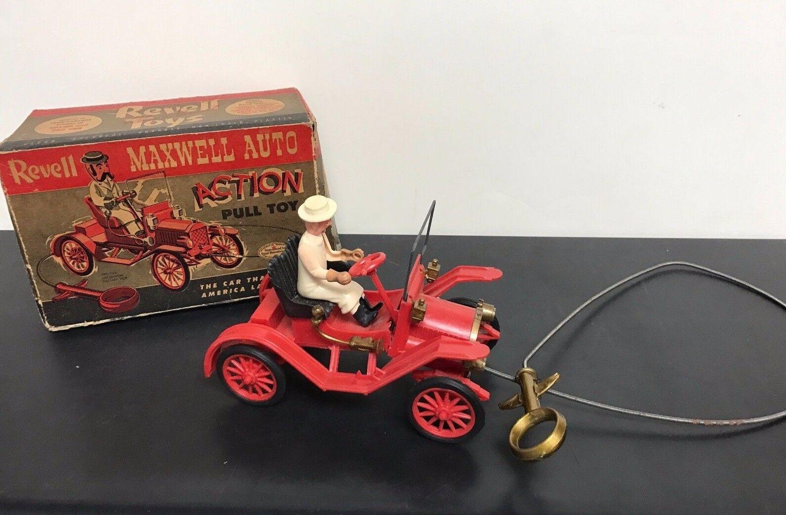 Vintage Revell Maxwell Auto acción Tire Coche De Juguete Con Caja Original