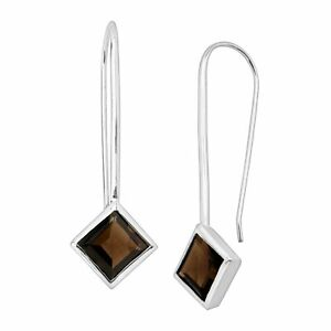 Silpada-039-Mountainview-039-Natural-Smokey-Quartz-Drop-Earrings-in-Sterling-Silver