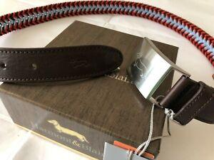 vendita scontata di bell'aspetto preordine Harmont&Blaine cintura uomo tg.48 H&B intrecciata multicolore   eBay